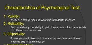 Characteristics of Good Psychological Test