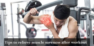 tips to relieve muscle soreness after workout