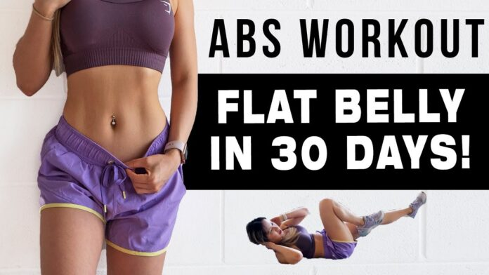 10 Minutes workout to toned abs and legs