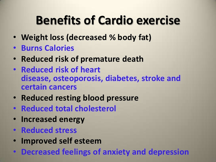 What are the benefits of cardio training?